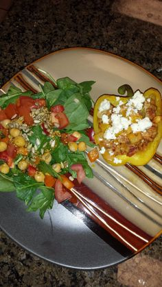Ground chicken stuffed peppers, so easy to make.