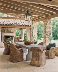 By Décor: Is Kubu For You?: Kubu Grey Rattan Dining Chairs love the columnDriven By Décor: Is Kubu For You?: Kubu Grey Rattan Dining Chairs love the column Outdoor Areas, Outdoor Rooms, Outdoor Dining, Outdoor Decor, Dining Area, Dining Room, Outdoor Stone, Patio Dining, Outdoor Seating