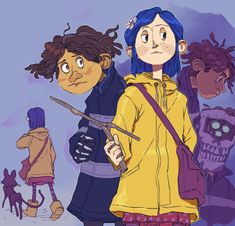 some goofy kids Coraline Jones, Coraline Movie, Coraline Art, Tim Burton, Coraline And Wybie, Brooklyn Nine, Coraline Aesthetic, Laika Studios, Character Art