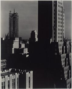 Alfred Stieglitz, Looking Northwest from the Shelton, 1932.  Art Experience NYC  www.artexperiencenyc.com/social_login/?utm_source=pinterest_medium=pins_content=pinterest_pins_campaign=pinterest_initial