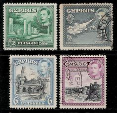 British Colony CYPRUS 1938 Old King George VI Stamps | eBay Old King, King George, Commonwealth, Cyprus, Postage Stamps, Colonial, 1960s, Greece, British