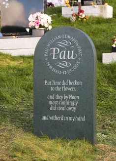 Innovative Headstone Designs by Artist Craftsman Ieuan Rees. | Just ...