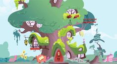 'My Little Pony' Concept Art Shows Off The Backgrounds of Equestria and Raises Money For Japan