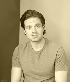 Sebastian Stan. I've never known blue yes to be soulful, but... there you have it.