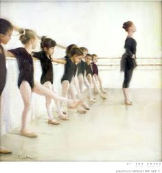 at the barre, Jonathan Linton