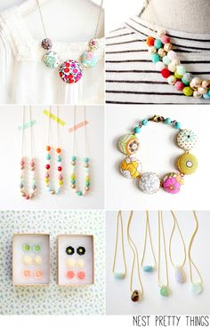 Etsy Take Five Tuesday No stranger to this blog, the beautiful handmade jewelry from Nest Pretty Things is always a favorite. I want to order so many things from this shop!