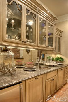 Beautiful Butler's Pantry by Segreto - Fine Paint Finishes and Plasters  kitchen design ideas and decor - Houston TX - Cabinets