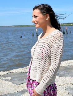 Ravelry: Cape May Lace Cardigan pattern by Nancy Eiseman knit in madelinetosh tosh dk