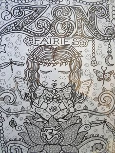 ZEN FAiRiEs Cute Coloring Book You be the Artist by ChubbyMermaid, $12.00