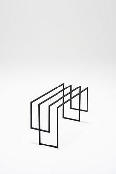thin black lines25-stool