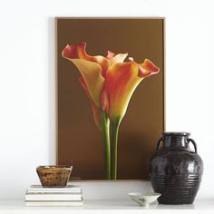 They say having flowers in your home boosts your spirits and tends to make you happier. These blooms symbolize energy and enthusiasm, and it's easy to understand why with this close-up interpretation of our Calla Lily Wall Art.  Adorn your walls + Save on this work of art (on sale 😊) with our Fall Updates Sale, but for a limited time only. Shop link in bio