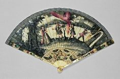 Dutch brisé fan, circa 1740. Fitzwilliam Museum - Object M.262-1985 (Id:117847)