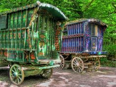 gypsy caravan, if I got to choose to live another life it would be a toss up between a gypsy or mermaid.