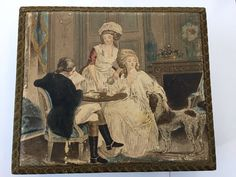 Vintage Jewelry Box Antique French Silk by AntiqueJewelryForFun