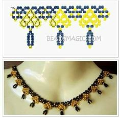 Kette Kette is a town and commune in Coordinates: / / Pearl Necklace Designs, Beaded Jewelry Designs, Bead Jewellery, Seed Bead Necklace, Beaded Earrings, Motifs Perler, Beading Patterns Free, Bead Loom Bracelets, Bracelet Tutorial