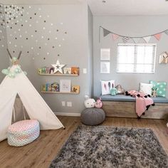 We are ALWAYS on the hunt for an adorable, functional and FUN playroom. LINK IN PROFILE to see the whole room.  Psssst... do you have a playroom that fits this bill? Post it using #PNplay and we just may include it in a future round-up on the blog. (with proper credit, of course!)  Design by: @caitsroom