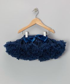 Take a look at this Navy Couture Pettiskirt - Infant & Toddler by Chicaboo on #zulily today!