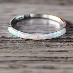 Mermaid White Opal Ring