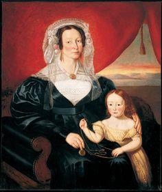 Theophile Hamel, Madame Charles-Hilaire Têtu, née Elizabeth O'Brien, et son fils Eugène,1841   Huile sur toile   115,1 x 97,2 cm    1841   Huile sur toile   115,1 x 97,2 cm
