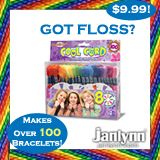 HaHA!!! I am a dental hygienist and I couldn't resist!  Emily and I do make friendship bracelets with this type of 'floss'!