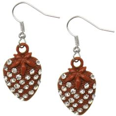 Candy Luxx - Rusty Burnt Orange Rhinestone Mini Strawberry Dangle Earrings, $5.99 (http://www.candyluxx.com/products/rusty-burnt-orange-rhinestone-mini-strawberry-dangle-earrings.html)