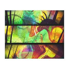 Painted Panes Abstract Wrapped Canvas