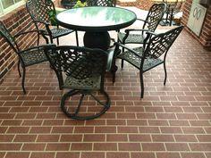 Brick Overlay, Brick Stencil, Sprayed Down Concrete, Stained Concrete, Concrete Sealer. Concrete Sealer, Concrete Finishes, Stamped Concrete, Decorative Concrete, Concrete Contractor, Brick Patios, Oklahoma City, Outdoor Furniture, Outdoor Decor