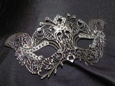 New to TheCraftyChemist07 on Etsy: Petite Silver or Gold Metallic Masquerade Mask (29.99 USD)