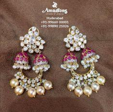 Ear Jewelry, Beaded Jewelry, Jewellery, Gold Earrings Designs, Ear Rings, Simple Jewelry, Designer Earrings, Diamond Earrings, Traditional