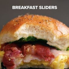 Servings: 12INGREDIENTS12-pack of dinner rolls or Hawaiian sweet rolls9 eggs, scrambled6 slices ham6 slices white cheddar8 strips cooked bacon3 ounces baby spinach2 tablespoons melted butter1 teaspoon black pepperPREPARATION1. Preheat oven to 350°F/175°C.2. Slice the rolls in half lengthwise.3. Place the bottom half on a 9x13 baking tray.4. Spread the eggs evenly on the rolls, followed by the ham, cheddar, bacon, and spinach.5. Place the remaining half of the rolls on top. 6. Brush with…