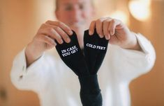 Wedding Gift Grooms Socks in case you get cold feet™ by GroomSocks wedding #wedding #weddinginspiration wedding inspiration #groom Groom #grooms grooms