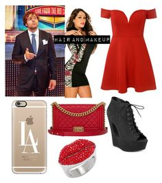 """""""Date with Dean -Cecilia"""" by leila-mcclendon ❤ liked on Polyvore featuring Glamorous, Steve Madden, Casetify and Chanel"""
