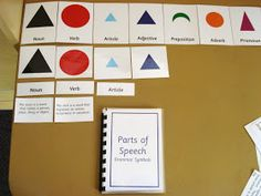 I've just finished making my Montessori grammar chart, cards and booklets for use in my 6-9 class. And I have a surprise for everyone so ...