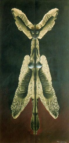 Remedios Varo Paintings & Artwork Gallery in Chronological Order; Female Spirit of the Night.
