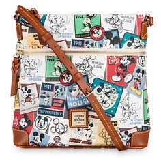 Mickey Thru the Years Large Letter Carrier Bag by Dooney & Bourke