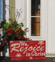 "wooden+christmas+signs | Creative ""Try""als: Wooden Christmas Sign - We Rejoice in Christ"