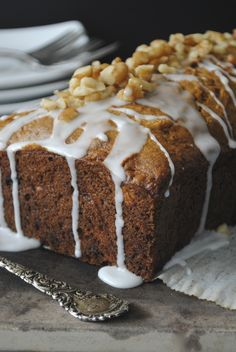 Apple Raisin Loaf Cake, a fast and easy treat to make.