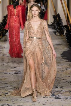 Zuhair Murad Spring 2018 Couture Fashion Show - The Impression Haute Couture Style, Couture Week, Spring Couture, Fashion Week, Runway Fashion, Fashion Show, High Fashion, Fashion Design, Fashion Pics