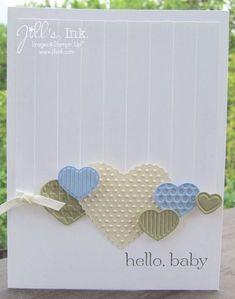Fashionable Hearts Baby Card