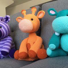 Ginnie the Giraffe Amigurumi Pattern Crochet Giraffe Pattern, Crochet Animal Patterns, Stuffed Animal Patterns, Crochet Patterns Amigurumi, Crochet Disney, Crochet Projects, Etsy, Tiger Cubs, Tiger Tiger