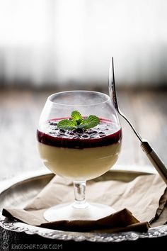 Vanilla panna cotta with mixed berry compote | Ichigo Shortcake