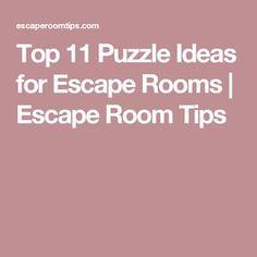 Top 11 Puzzle Ideas for Escape Rooms   Escape Room Tips