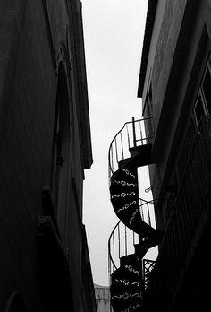taircases and roofs by zotosi, via Flickr Black White Photos, Black And White, Acropolis, Staircases, Athens, Kai, Greece, Tours, Urban