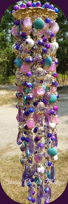 MELANIE CRYSTAL WINDCHIME by SCrystalBoutique on Etsy