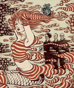 (Garbage) people in music by Yuko Shimizu, via Behance