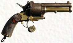 It's a Civil War favorite – the LeMat Revolver.Due to the South's lack of manufacturing, it was decided that the LeMat would be produced in France. Unfortunately for them, only a little over 2,000 of these guns made their way past the Union naval blockades.   What makes the LeMat special is that it is two guns in one – a revolver and a shotgun. Each had nine shots from either a .42 or .36 caliber pistol as well as a single 16 gauge buckshot from the lower barrel.