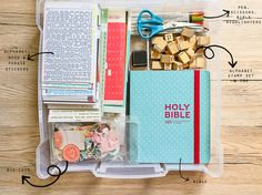 Hi everyone! I just wanted to share a little bit with you today about how I am currently storing my bible journaling supplies. One thing that's really important to me is that everything easily transported from one place to another.…