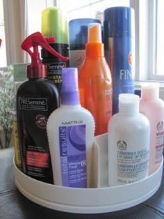 Revolving Hair Product Organizer.