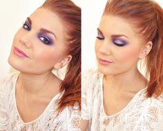 purple smokey eye - love the hair color as well