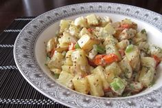 Dairy-free roasted potato salad! LOVE this dish!